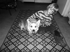 jacob+his dog. (stephiblu) Tags: boy dog kid floor jacob katie nj montclair