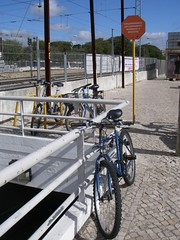 Bikes estacionadas na rack do lado Norte