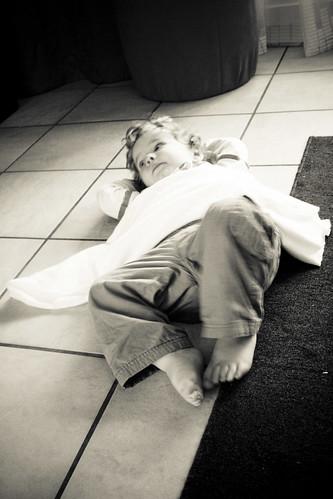Ian Laying On the Floor