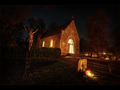 Enter (Kaj Bjurman) Tags: eve church night eos all christ sweden sleep cemetary graves sverige hdr solna kaj eternal hallows cs3 kyrkogrd photomatix allhelgona 40d bjurman