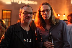 MySpace Music Party - Bryan Thatcher of Empressr and Michael Birch Co-Founder of Bebo