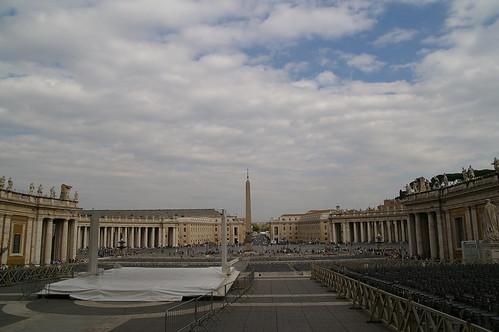 梵蒂岡前的廣場 望彌撒應該很壯觀