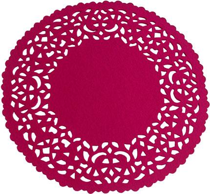 eden pink doily