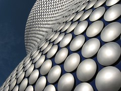 Disc o Tech (Heaven`s Gate (John)) Tags: blue england abstract art topf25 architecture modern silver circle birmingham topf50 curves creative dramatic selfridges round imagination disc top20arch squarecircles discotech 50faves 10faves 5photosaday 25faves johndalkin heavensgatejohn excapture qualitypixels
