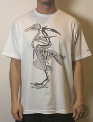Staple Skeleton Pigeon Tee - White