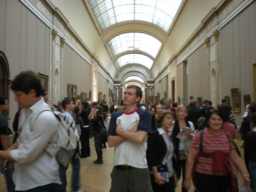 Inside the Louvre on Oct. 13, 2008