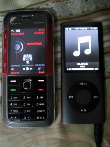 Nokia 5310 VS iPod Nano