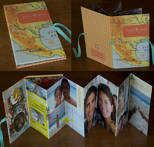 honeymoon photos - accordion book