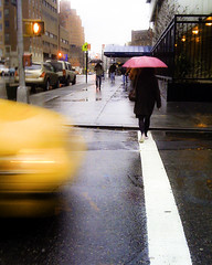 "I LOVE THE RAIN (3 of 5): ""Walked the line"" (Sion Fullana) Tags: pink newyork blur yellow lluvia streetphotography umbrellas paraguas allrightsreserved whiteline taxicab iphone yellowtaxi therain pinkumbrella creativeshots lalluvia iphonephotography sionfullana raininnewyork sionfullanasphotography iphoneography iphoneographer sionfullana throughthelensofaniphone"