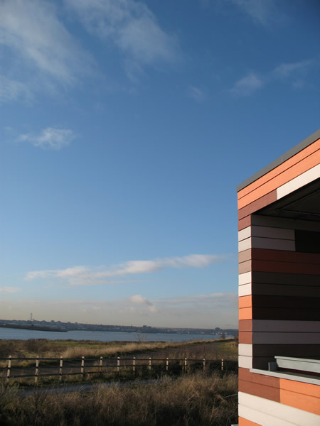 Visitor centre at RSPB Rainham Marshes nature reserve