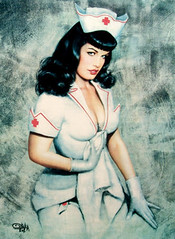 R.I.P. ~ Betty Page (amayzun) Tags: woman sexy up pin nurse pinup bettypage