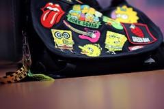 (S) Tags: school electric bag floor guitar nirvana sesamestreet spongebob vans dork squad simpson greenday therollingstones meggie hotpink happytreefriends
