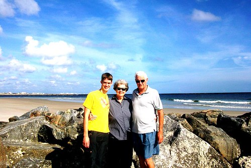 Adam with his grandparents