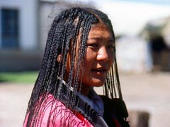 Qinghai Nomad women (Paolo Del Papa) Tags: nepal mountains history travels asia photos culture peoples tribes kashmir himalaya hindu archeology buddism religions sikkim ladakh buthan etno explorations traderoutes reportages asiacentral paolodelpapa travelgeo tibetquinghai himalayatrails