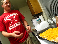 Wes concocting some Enchilada goodness at home on the Laughlan Airforce base in Del Rio, Texas, USA