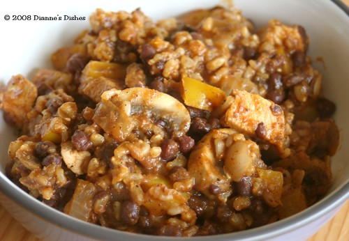 Cajun Adzuki Beans with Brown Rice and Chicken