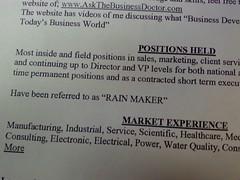 Resume Excerpt