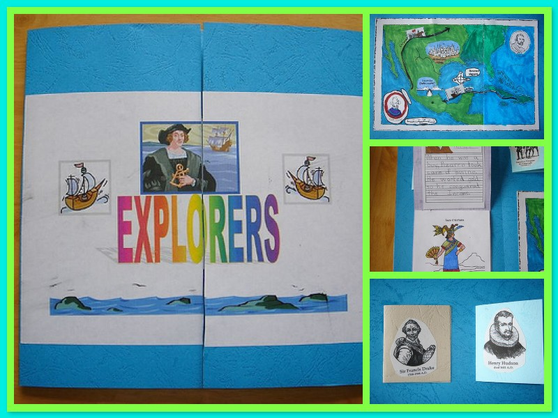 mosaic of explorers lapbook