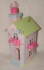 Tilda's altered house (side) (yifatiii) Tags: altered scrapbook scrapbooking paper dragonflies dragonfly sewing polymerclay fimo needle clay sculpey pincushion prima tilda alter bazzill polymer cardstock scarpbook tonefinnanger sewprettyhomestyle pinscushion