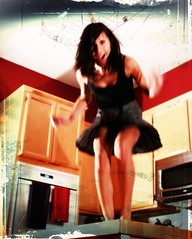 in my kitchen (day 88 | year 2) (TeeRish) Tags: kitchen jump jumping year2 dork concussion 365days flickrgrouproulette inyourkitchen texturebyleschick