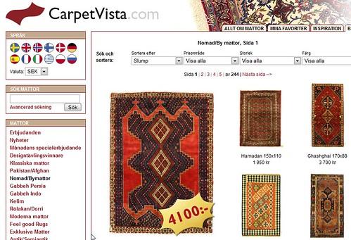 Carpet Vista - snabbväxande e-handel