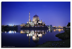 Mosque Blues (DanielKHC) Tags: longexposure blue night digital high nikon bravo dynamic mosque hour malaysia putrajaya range fp frontpage dri increase hdr blending d300 sigma1020mm dynamicrangeincrease firstquality 5exp spectnight danielcheong danielkhc explorefp