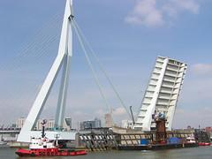 Day 99 (RobertsNL) Tags: bridge boats rotterdam erasmusbrug