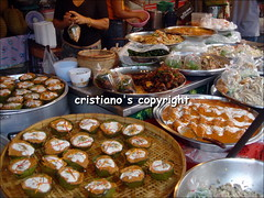 Thai food at market - Bangkok, Thailand (cristiano1973) Tags: boys thailand temple market bangkok buddha monk tuktuk nightlife watarun thaifood chaophrayariver patpong recliningbuddha templeofdawn samutprakan krungthep thecityofangels watphot