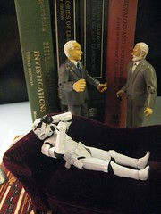 Carl Jung and Sigmund Freud Disagree on How to Treat the Patient's Stormtrooper Delusion (ShellyS) Tags: toys starwars stormtroopers books explore actionfigures sigmundfreud psychology carljung