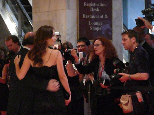 Salman Rushdie and the OC's Olivia Wilde by angela n.