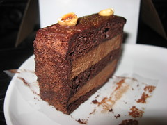 Batch: Hazelnut chocolate layer cake (close up)