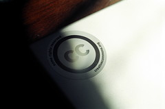 Creative Commons Sticker on My MacBook Pro