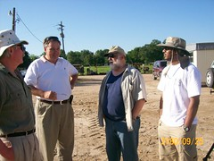 from left  Dr. John Oldow of U of Idaho, Dr. Roy Dokka of LSU, Carlos Aiken and Tarig Ahmed, PhD student Geospatial Infor. Sci. (ahmed_tarig) Tags: texas near houston sinkhole | daisetta