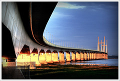 Evening Light, The Second Severn Crossing (-terry-) Tags: bridge light sunset river evening crossing dusk severn riversevern eveninglight secondseverncrossing caldicot 15challengeswinner