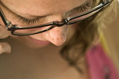 Eralda's Eyelashes (Merlijn Hoek) Tags: amsterdam closeup photography glasses nikon dof close angle eyelash d200 bril cilia hoek wimper wimpers merlijnhoek eralda eraldavanzurk augenwimper
