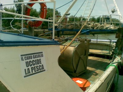 Fiumicino Fishermen on strike