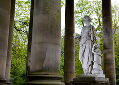Lighting a Goddess (fishsuckeggs) Tags: statue edinburgh snake pillars stbernardswell waterofleithwalkway hygieia strobist goddessofhealth edinburghmeetups