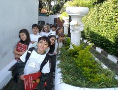 Chegada dos alunos ao Museu do índio