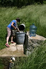 Sarah Fetches Water (readysubjects) Tags: lafarge kickapoo continentaldrift sarahross