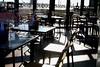 Empty Tables (Karen_O'D) Tags: reflection window liverpool table glasses chairs banana lamb albertdock merseyside superlambanana capitalofculture liverpool08