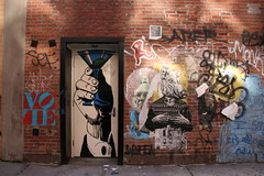 Cheers (carnagenyc) Tags: streetart newyork art brooklyn urbanart saber vote gaia judithsupine strassenkunst newyorkstreetart