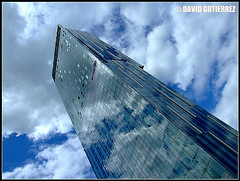 Glass Architecture in the Blue Sky of Bee