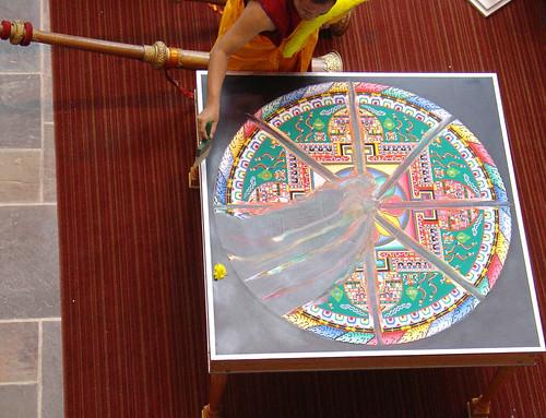 Mandala dismantling
