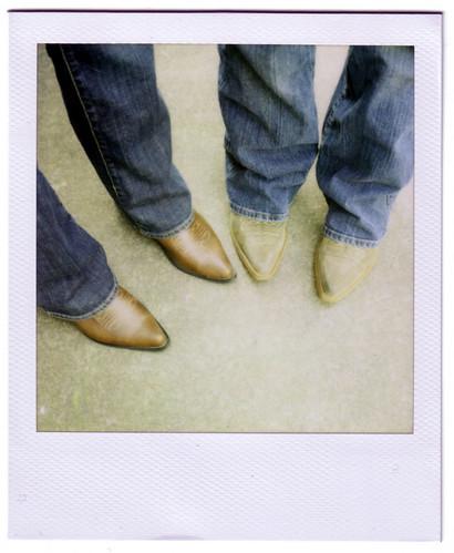 sexy film fun polaroid sx70 boots instant cowgirl bluejeans 600film