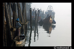 fishing boat-2 (MOHAMED A.) Tags: morning travel people india color nature reflections landscape boat asia kerala saarc puzha aplusphoto