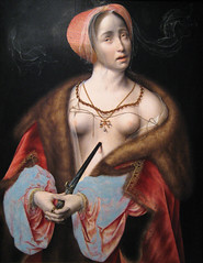 Lucretia, 15th - 16th century (Maulleigh) Tags: art museum san francisco panel honor van 16th 15th legion legionofhonor lucretia honour cleve joos centuryoil