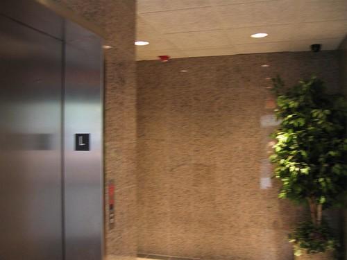 The cramped main lobby