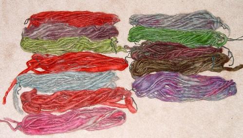 test hand-dyed handspun