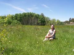 Rachel Glowing in Vedauwoo Meadow