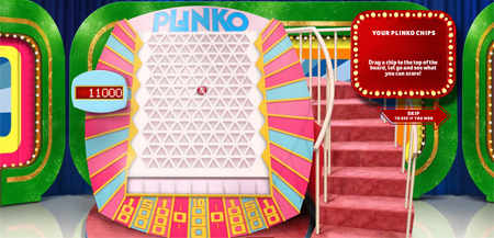 Plinko game screen